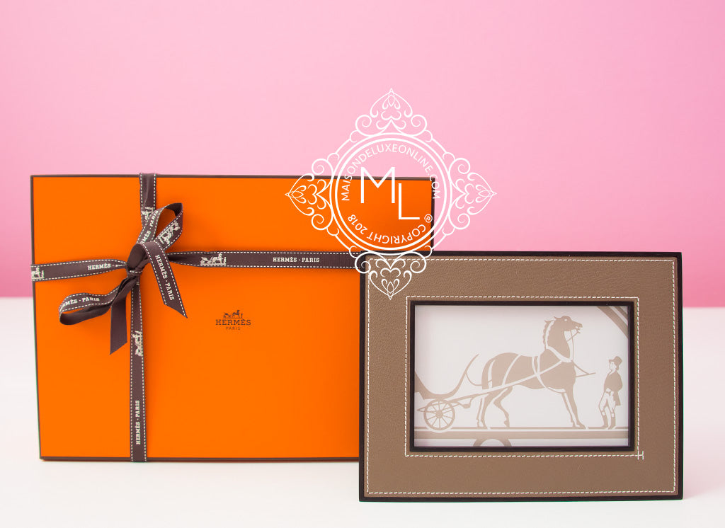 Hermes Classic Pleiade Etoupe Horizontal Photo Picture Frame Avalon ...