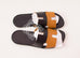 Hermes Men's Black / Natural Izmir Sandal 44 Shoes