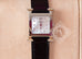 Hermes Diamond H Hour Watch PM Black Crocodile Strap - New - MAISON de LUXE - 3