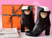 Hermes Womens Black Joueuse Kelly Boots 37 Shoes - New - MAISON de LUXE - 1