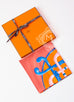 Hermes Orange Twill Silk 90 cm Cannes et Cannes Scarf - New
