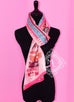 Hermes Rose Pink Fuchsia Colliers de Chiens Silk Maxi Twilly Shawl Scarf Wrap - New - MAISON de LUXE - 6