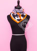 Hermes Black White Twill Silk 90 cm Space Shopping au Faubourg Scarf