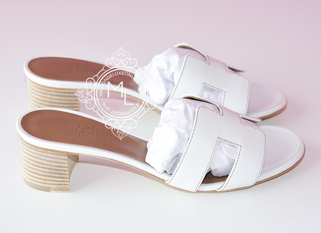 3cef9328678e ... Hermes Womens White Oasis Sandal Slipper 36 Shoes - New - MAISON de  LUXE - 3 ...