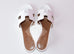 Hermes Womens White Oasis Sandal Slipper 36 Shoes - New - MAISON de LUXE - 4