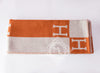 Hermes Large Orange Pumpkin Wool Cashmere H Avalon Blanket - New - MAISON de LUXE - 3