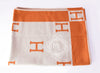 Hermes Large Orange Pumpkin Wool Cashmere H Avalon Blanket - New - MAISON de LUXE - 5