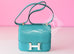Hermes Blue Paon Crocodile Constance MM 24/25 Handbag - New - MAISON de LUXE - 2