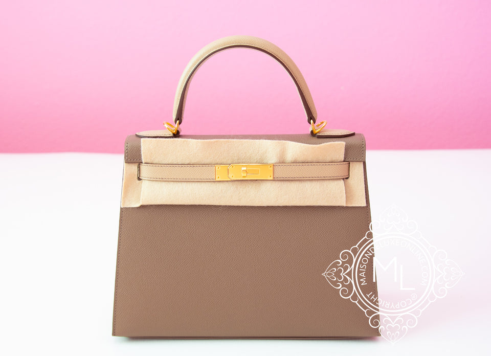 Etoupe Trench HSS Sellier Epsom Kelly 28 Handbag
