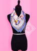 Hermes Silk 70 cm Blue Sports D'Hiver Scarf - New - Sale Item - MAISON de LUXE - 3