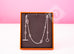 "Hermes 925 Solid Silver Farandole 120 47"" Long Necklace"