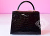 Hermes Noir Black GHW Niloticus Crocodile Sellier Kelly 28 Handbag - New - MAISON de LUXE - 2