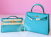 Hermes Blue Bleu Paon Mini Kelly Pochette Clutch - New - MAISON de LUXE - 2