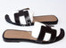 Hermes Womens Black Oran Sandal Slipper 37 Shoes - New - MAISON de LUXE - 2