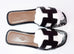 Hermes Womens Black Oran Sandal Slipper 37 Shoes - New - MAISON de LUXE - 3