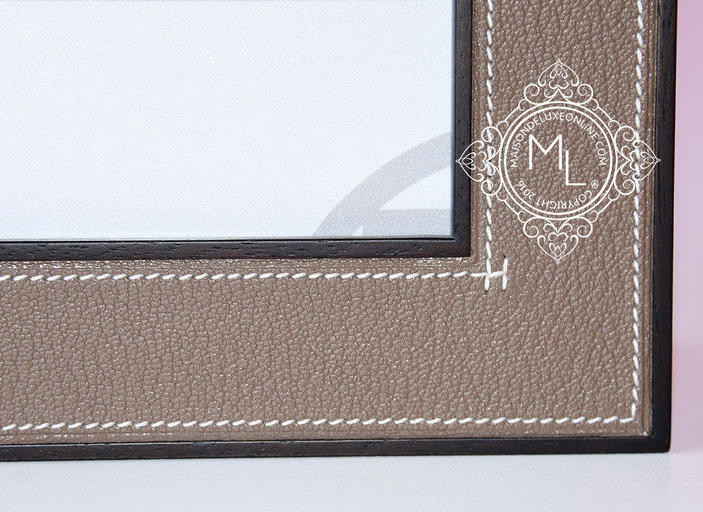 Hermes Classic Pleiade Gold Leather Photo Picture Frame Avalon Maison De Luxe