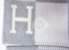 Hermes Large Gris Clair Wool Cashmere H Avalon III Blanket - New - MAISON de LUXE - 6