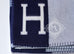 Hermes Caban Blue Wool Cashmere H Avalon III Blanket