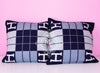 Hermes Classic Caban Blue Wool Cashmere Avalon III Cushion Pillow - New - MAISON de LUXE - 2