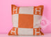 Hermes Classic Pumpkin Orange Wool Cashmere Avalon Cushion Pillow - New - MAISON de LUXE - 1
