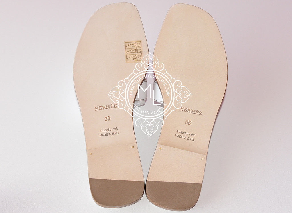 3c75d9ef2952 ... Hermes Womens White Oran Sandal Slipper 36 Shoes - New - MAISON de LUXE  - 4