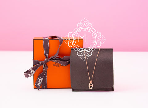 Hermes Rose Gold Farandole Charm Pendant Necklace - New