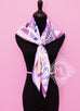 Hermes Purple Twill Silk 90 cm Sea Surf and Fun Scarf