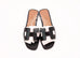 Hermes Womens Black Oran Sandal Slipper 36 Shoes