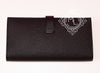Hermes Noir Black Epsom Bearn Long Wallet Clutch - New