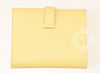Hermes Jaune Poussin Yellow Epsom Bearn Wallet Clutch - New
