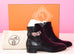 Hermes Womens Black Néo Kelly Boots 36.5 Shoes