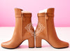 Hermes Womens Camel Joueuse Kelly Boots 37 Shoes - New