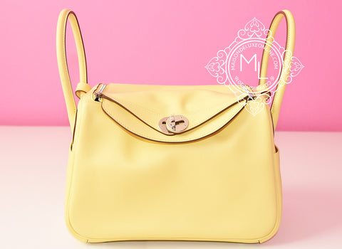 Hermes Jaune Poussin Yellow Lindy 26 Handbag - New