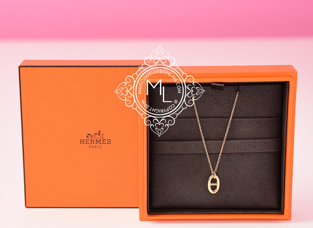 Hermes Rose Gold Farandole Charm Pendant Necklace