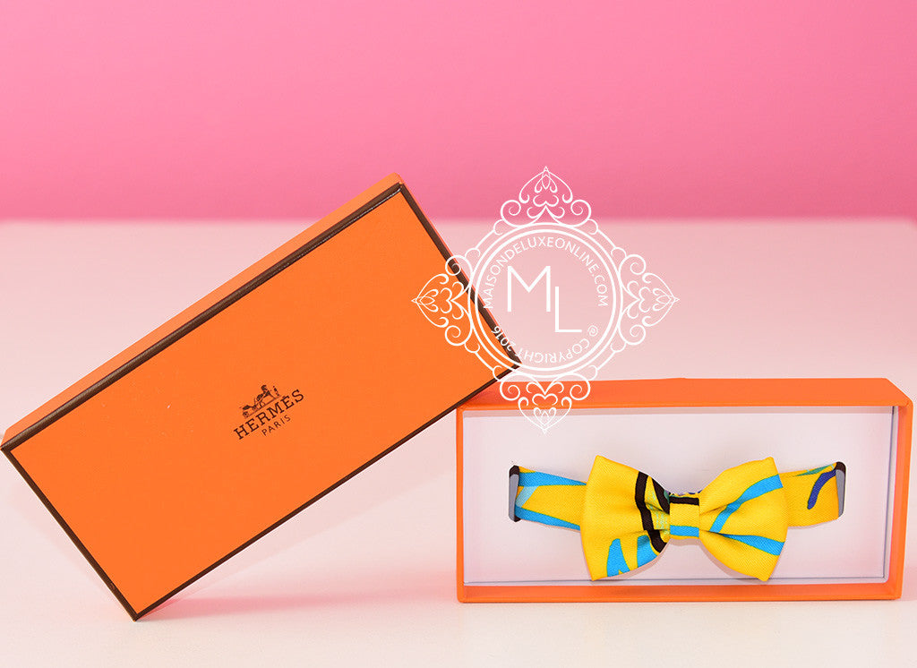 Hermes Modernisme tropical Yellow Bow Tie