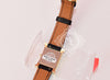 Hermes Gold H Hour Watch PM Black Strap Bracelet - New