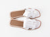 Hermes Womens White Oran Sandal Slipper 37.5 Shoes