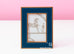 Hermes Classic Pleiade Blue Regate Leather Photo Frame