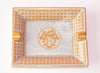 Hermes Classic Mosaique 24 Gold Cigar Tray Ashtray - New