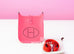 Hermes Rose Azalee Pink Mini TPM Evelyne Messenger Bag