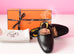 Hermes Womens Black OZ Kelly Mules 37 Shoes