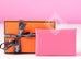 Hermes Rose Azalee Pink Epsom Calvi Card Case Holder
