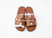 Hermes Men's Gold Brown Izmir Sandal 44 Shoes