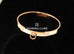 Hermes Rose Gold Diamond Collier de Chien CDC Bracelet ST
