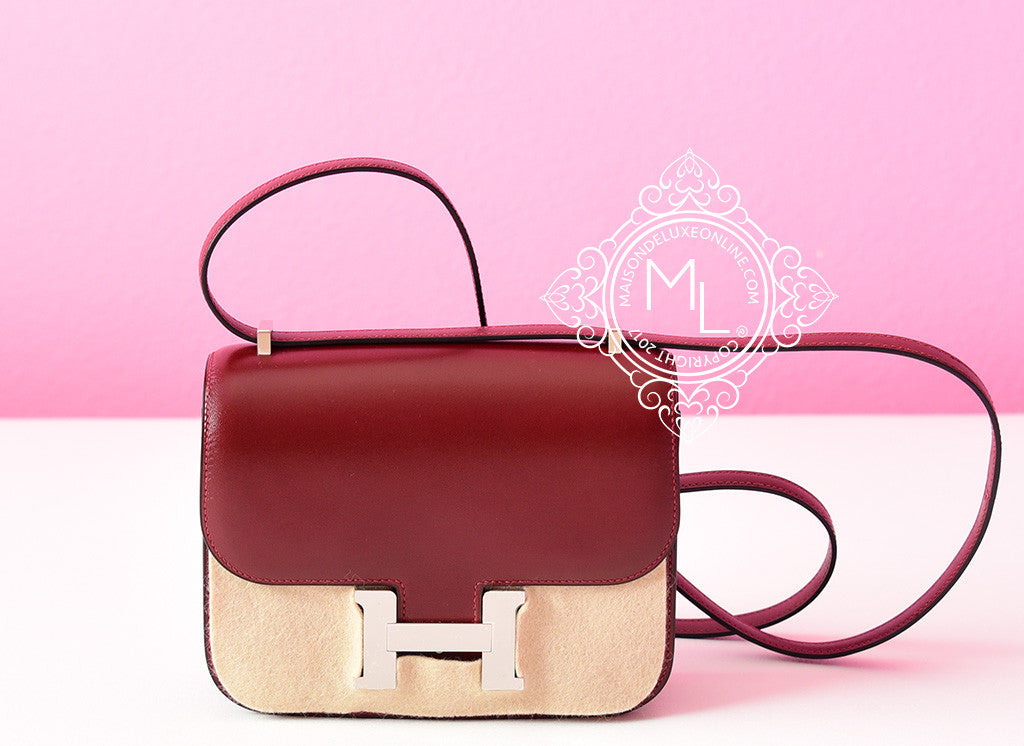 Mini In De Box.Hermes Classic Rouge H Box Constance Mini 18 19 Handbag Bag Kelly