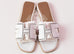 Hermes Womens Perforated White Oran Sandal Slipper 36 Shoes