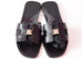 Hermes Womens Clous Pyramides Black Oran Sandal Slipper 36 Shoes