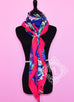 Hermes Cashmere 140 GM Flamingo Party Pink Purple Shawl Scarf - New