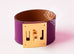 Hermes Anemone Purple GHW Kelly Dog CDC Bracelet