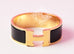 Hermes Black Wide Clic Clac Gold Hardware Bracelet PM